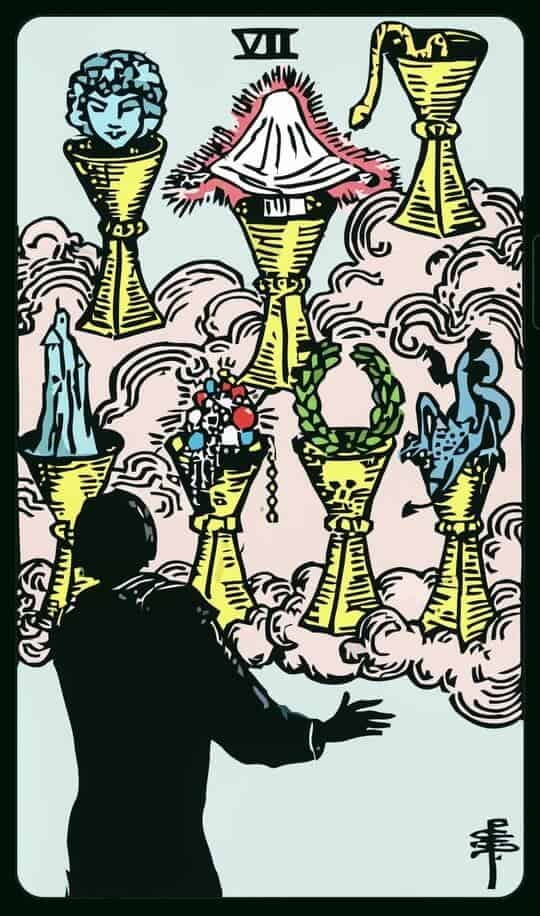 SEVEN Of CUPS : 7 ถ้วย